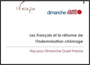 indeminisation chômage IFOP ouest france 2