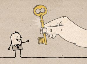 Big Hand - giving the key